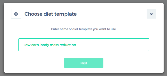 choose diet template