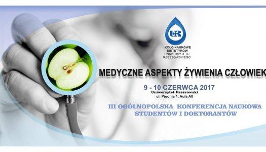"""Konferencja """"Medyczne aspekty żywienia człowieka""""."""