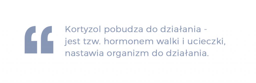 kortyzol pobudza